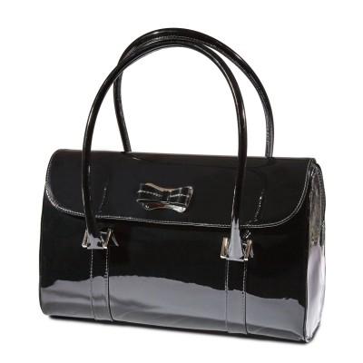 Sandro Vicari fekete lakk táska