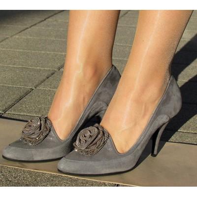 Giuliano Venanzi szürke magassarkú cipő