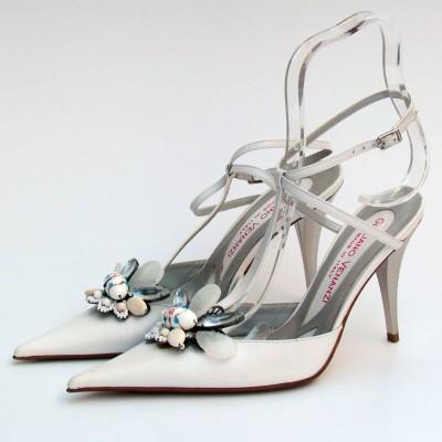 Giuliano Venanzi fehér hátul nyitott cipő