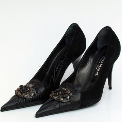 Giuliano Venanzi fekete magassarkú cipő
