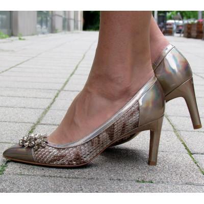 Zocal arany magassarkú cipő