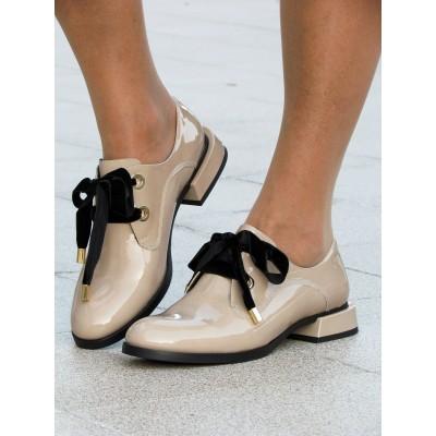 Zocal krém bársonyfűzős cipő