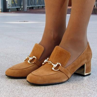 Zocal világosbarna velúr cipő
