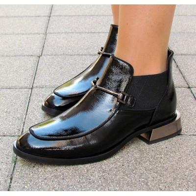 Zocal fekete kis sarkú cipő