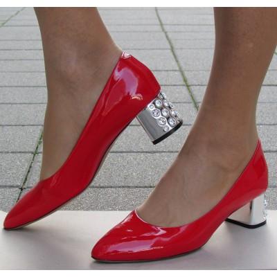 Zocal piros alkalmi cipő