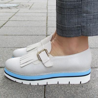 Zocal krém lakk cipő