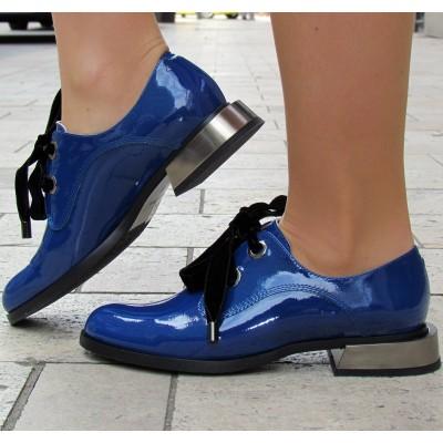 Zocal kék bársony fűzős cipő