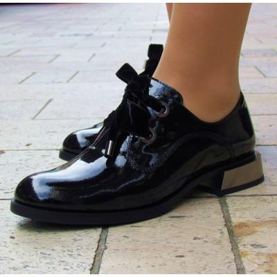 Zocal fekete bársony fűzős cipő