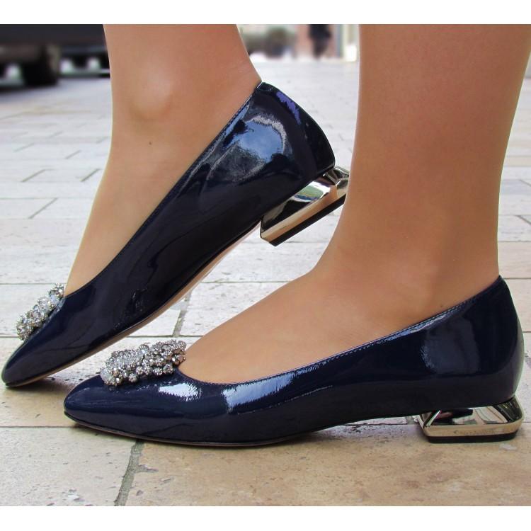 Zocal kék köves balerina